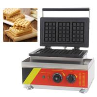 china cake plate venda por atacado-China Melhor Quantidade 3 pcs Mini Comercial Elétrica Belga Retângulo Waffle Máquinas De Máquinas De Pão De Pão Baker Placa De Ferro