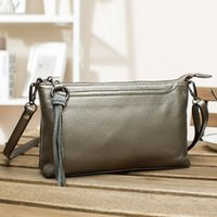 Wholesale womens purple purses resale online - Fashion Womens Small Leather Crossbody Bag Zipper Clutch Phone Wallet Purse with Three Card Slots