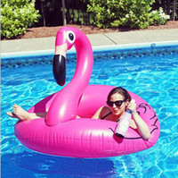 120CM 60 Inch Giant Inflatable Flamingo Pool Toy Float Inflatable flamingo swimming seat ring pool beach toy