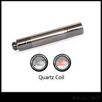 cera máxima al por mayor-Original 5SVV Wax Vaporizador Cartucho de bobina de cuarzo Fit Max Vertex Precalentamiento de la batería Color de plata Envío gratuito
