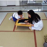 chão japonês venda por atacado-Dobrável Mat Tradicional Japonês Quadrado Criativo Yoga Tatami Pad Piso Personalidade Molde À Prova De Palha Esteiras de Casa 129sl jj