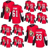 Wholesale Ice Outlet - 2018 Mens Ottawa Senators 9 Bobby Ryan Thomas Chabot Mark Stone Claesson 39 Andreas Englund Red Home Factory Outlet Hockey Jerseys Stitche