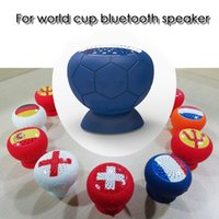 Wholesale usb flag resale online - world cup speaker flag printing mini portable suber bass subwoofer with removeable sucktion cup for shower loudspeaker with build in mic