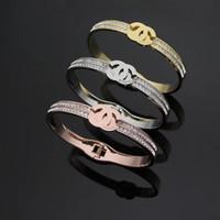 bijoux de diamant achat en gros de-Nouveau Deluxe Marque Designer plein bracelets de mariage de diamants bracelets beaux bijoux or 18 carats en argent rose or femmes hommes amoureux cadeau livraison gratuite
