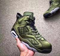 Wholesale Best Leather Jackets - Air 6 Flight Jacket Pinnacle Basketball Shoes sneakersSaturday Night Live Nylon Army Green AH4614-303 With Original Box 2017 best
