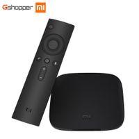 Wholesale Wi Fi Tv Box - Original Xiaomi MI BOX TV BOX 3 Android 6.0 2G 8G Smart 4K Quad Core HDR Movie Set-top Box Multi-language Netflix YouTube Google
