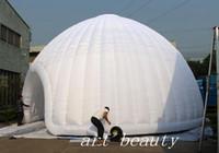 ingrosso grandi palloncini pubblicitari-10mx5mH costruzioni tenda geodetica a cupola d'aria, tendone gigante bianco tendone gonfiabile a cupola