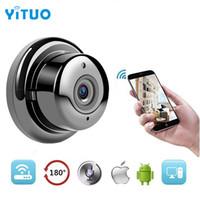 sesli ev güvenliği toptan satış-1.0MP 720 P Düğme Mini Kablosuz Kamera Wifi İki yönlü ses Kapalı IR-CUT Gece Görüş CCTV Ev Güvenlik IP Kamera Wi-fi YITUO
