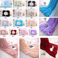 Wholesale Fluffy Plush Fleece Blankets luxury Soft Double Layer Throw Blanket Air Conditioning Bedspreads Wedding Supplies Home Decor Christmas gifts