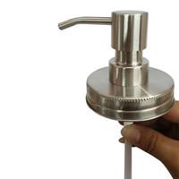 Wholesale single nozzles resale online - Diy Hand Soap Dispenser Pump Stainless Steel Mason Jar Countertop Soaps Lotion Dispensers Nozzle Polish Chrome Orb Golden hx gg