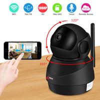 güvenlik hdd toptan satış-ANRAN 1080 P IP Dome Kamera Kablosuz 2MP HD Su Geçirmez IR Gece Görüşlü Güvenlik Kamera Akıllı Robot Kapalı WIFI YOK / 16 GB HDD