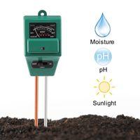medidor de ph para el suelo al por mayor-Medidor de pH del suelo, medidor de humedad 3 en 1 GZCRDZ / Kits de prueba de suelo de luz solar / pH Función de prueba para el hogar y el jardín, Plantas, Granja, Interior