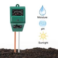 kits de casa solar venda por atacado-Medidor de pH Do Solo, GZCRDZ 3-em-1 Medidor de Sensor de Umidade / Luz Solar / Kits de Teste de Teste de solo de pH para Casa e Jardim, plantas, fazenda, interior