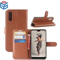 изделия из горячей кожи оптовых-Для Huawei P20 премиум PU кошелек кожаный чехол с держателем карты горячий продавать продукт быстрая доставка