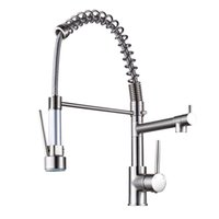 Wholesale Brushed Nickel Pull Out Faucets - Nickel Brushed Deck Mount Single Handle Sink Faucet Pull Out and Down Kitchen Sink Faucet Pull Out Kitchen Vessel