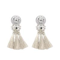 серьги с кисточкой оптовых-New Fashion Silver/Gold Tassel Earrings For Women Handmade Bohemia Vintage  Earring Ethnic Fringe Drop Earring Jewelry