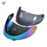 motosiklet kaskı için siper toptan satış-Yeni 1 Adet Iridyum / hafif duman motosiklet kask siperliği lens Tam Yüz Kalkanı durumda AGV K3 K4 için maske (K3-SV için değil)
