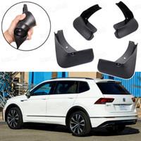 retalhos de lama para automóveis venda por atacado-Novo 4 Pcs Lama Carro Flaps Respingo Guardas Fender Guarda lamas apto para VW Tiguan R-Line 2018 2019