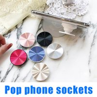 Wholesale hand socket - Magnetic Phone Holder Expanding Stand Hand Grip Fashion Phone Universal Pop Phone Sockets Selfie Stick for iphone and smart phones