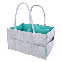 Wholesale felt fabric squares - Multi Function Felt Reticule Portable Organizer Foldable Mommy Baby Diapers Storage Bag For Car Travel High Quality 22mz WW
