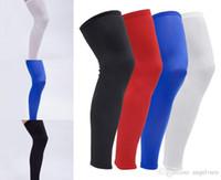 dda91b3361 Wholesale basketball compression leg sleeves resale online - Free DHL High  Elastic Basketball Knee Pads Knee