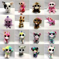 Wholesale ty big eye plush resale online - Keychain Toys Penguin Gift Toy Doll Big Beanie Stuffed Animals Eyes For Handbag TY Rabbit Boos Cat Kawaii Pendant Plush Kmkbn