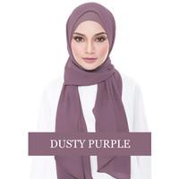 gorra de abaya al por mayor-2018 Musulmán Hijab Bonete Gasa Abaya Jilbab Gorros Pañuelo Femme Turbante Musulmán Bufanda larga Voile Islamique Turbante Eid Regalo