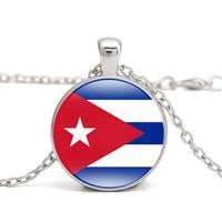 ожерелья карибы оптовых-Ямайка флаг ожерелье Карибское море страна Куба Гаити КН Сент-Люсия ВК ТТ Я люблю родной город Мужчины Женщины ювелирные изделия оптом