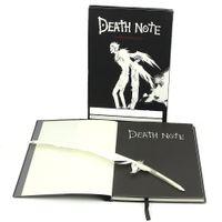 journal relié en cuir vintage achat en gros de-Nouveau créatif Death Note portable rétro journal magazins papeterie fournitures de bureau enfants cadeaux de Noël 20,5 cm * 14,5 cm