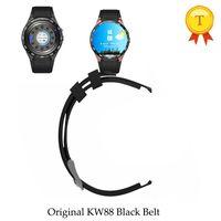 telefone preto smartwatch venda por atacado-Kingwear original kw88 smartwatch relógio inteligente relógio do telefone relógio saat pulseira de relógio pulseira de couro vermelho branco cinto preto watchband