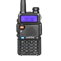 ingrosso uv5r walkie-2 Pz / lotto Best Sell Buona Qualità Baofeng UV-5R Walkie Talkie / Two Way Radio UV 136-174 / 400-520Mhz UV5R 5W Potenza 128CH per Mining