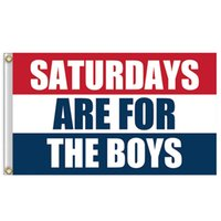 Wholesale National Direct - Rectangle 90*150CM Flags Saturdays Are For The Boys Garden Banner Polyester Fiber Stripe National Flag Factroy Direct Sale 17qt B