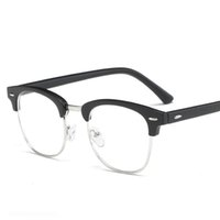dcaae260813 Vintage Finished Myopia Eye Glasses Men Women Half Frame Myopia Prescription  Eyeglasses Metal PC Spectacles Eyeglasses Eyewear