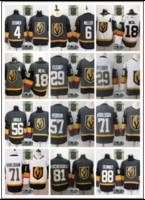Wholesale red gray hockey jersey - 2018-2019 Stitched adlads Vegas Golden Knights #29 Fleury #18 NEAL #81 MARCHESSAULT #71 KARLSSON #88 SCHMIDT Green Gray White Hockey Jerseys