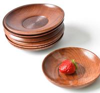 plates toptan satış-11.5-12.5 cm kaliteli Ahşap Çanak plaka yemek yemekleri tabaklar mutfak ev otel Sofra Yemek toptan ücretsiz kargo