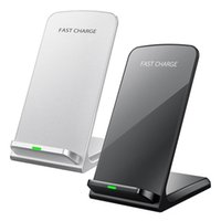 Wholesale 2 Coil Fast Charging QI Wireless Charger Stand For iPhone X Plus Samsung Galaxy S8 S8 Plus S9 S9 Plus Note