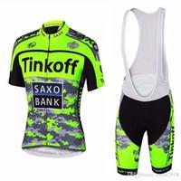Wholesale saxo cycling for sale - SAXO BANK team Short Sleeve Cycling jersey bib shorts set Summer Breathable Wear shirt D gel pad MTB Bike Ropa Ciclismo Cycling Clothing