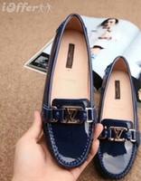 mocasin azul zapatos mujeres al por mayor-vvtisks5 MOCCASIN PATENT CUERO ZAPATOS AZULES MALETÍN PLANO 1A1IPK Mujeres Bombas Mocasines Bailarina Planos Alpargatas Cuñas Zapatillas Botas Botines