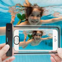 evrensel durumda iphone artı toptan satış-Su geçirmez Kılıf Için Evrensel iphone 7 6 6 s artı samsung S9 S7 Cep Telefonu Su geçirmez Kuru Çanta için akıllı telefon kadar 5.8 inç çapraz Perakende