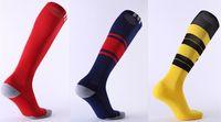 Wholesale Knee High Socks Hot - 2017 18 Man Men Socks Real Madrid Soccer Sports Socks RONALDO AC United High Knee Thai Quality Football Sock Hot Club In Milan Madrid City