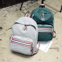 Wholesale Green Ribbon Schools - Fashion Designer Backpacks Preppy Style School Students Brand High Quality Bags Canvas Shoulder Backpack Female Cute Women Travel Bags