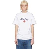 kadın gömlekleri haçlar toptan satış-18SS NOAH Klasik Çapraz tişört Yaz Nefes Serin Tee Moda Casual Basit Erkekler Kadınlar Sokak Katı Renk Kısa Kollu HFYMTX270