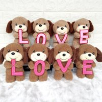 Wholesale brown dog stuffed animal - 2018 Creative cute LOVE puppy LOVE dog dolls stuffed animals toys valentine's day gift plush toys wholesale