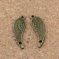 Wholesale christmas connector resale online - Charms angel wings connector x31mm Antique bronze Alloy ewelry Fit Handmade Bracelets F