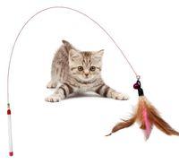Wholesale wholesale pet bird toys - Colorful Multi Pet Cat Toys Design Bird Feather Teaser Wand Plastic Toy High Quality EEA347 120PCS