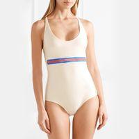 Wholesale men s bikinis - 18SS Luxury Brand Designer Swimwear Bikini Sexy Lady Triangle Vest Swimsuit Women Bathing Suit Swimming Beach T-shirt Swimsuit Set HFYMTX181