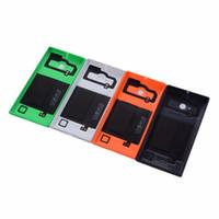 ingrosso casi per lumia-Custodia originale batteria per Nokia Lumia 730 735 Custodia posteriore per batteria con ricarica wireless NFC