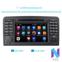 Wholesale mercedes w164 - Android 7.1 2 Din 7 Inch Car DVD Player For Mercedes Benz GL ML CLASS W164 X164 ML350 ML450 ML500 GL320 RAM 2G WIFI GPS Radio