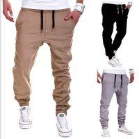Wholesale men s brands harem pants - Brand designers -Mens Joggers Sport Pants Men Hip-hop Drop Crotch Sweatpants Jogging Harem Pants Hipster Trousers Men Pantalones Hombre