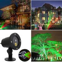 hareketli lazer projektör toptan satış-LED Su Geçirmez lazer ışıkları Otomatik Hareketli Kar Tanesi Projektör Lambaları Noel Partisi Bahçe Süslemeleri GGA1343 Için LED Sahne Işık